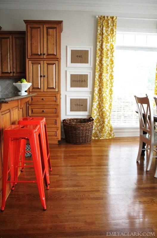 Emily A Clark tangerine stools