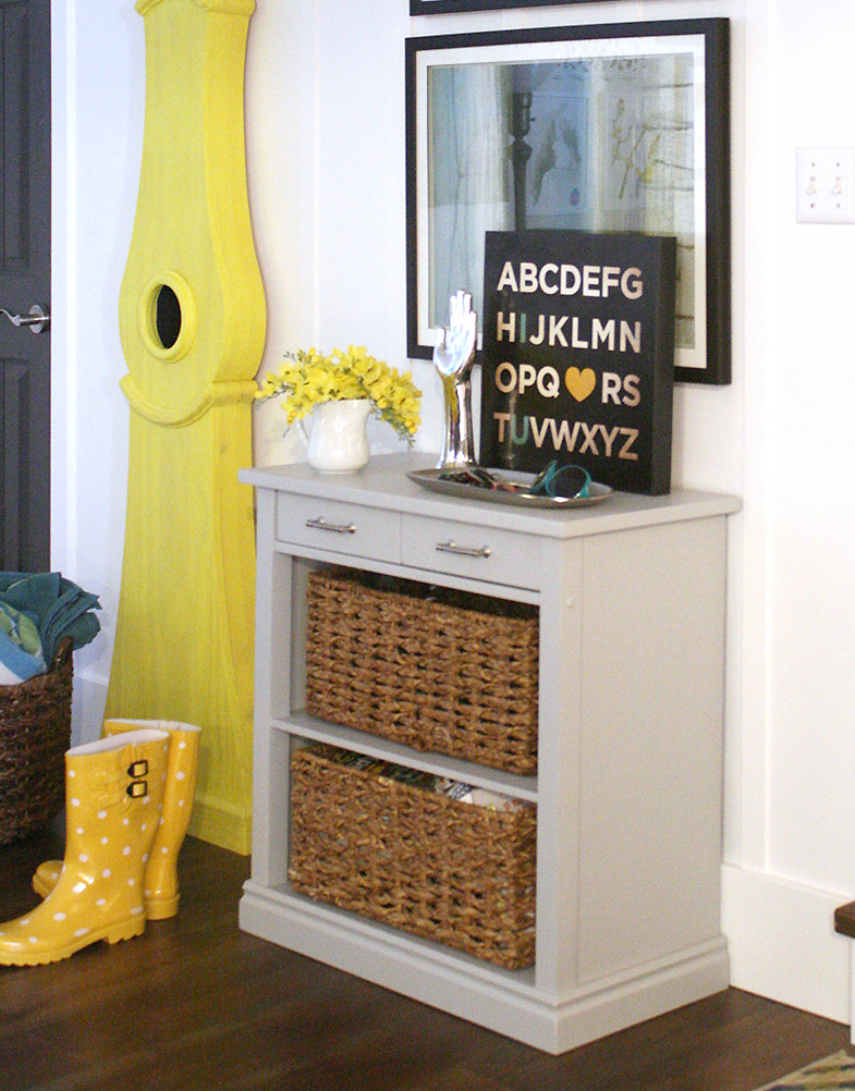 How To Build A Console Table From A Wooden Card Table Tutorial. Storage  Console Table