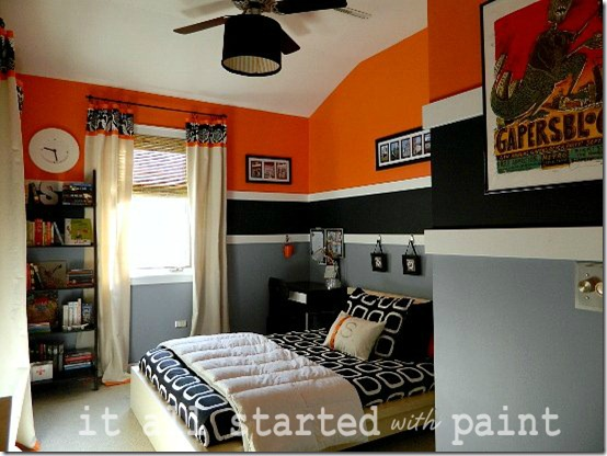 It All Started with Paint orange and black room