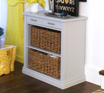 Build A Storage Console Table From A Card Table