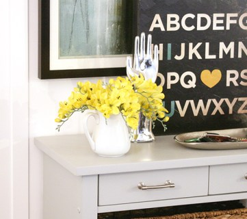 painted accent furniture post