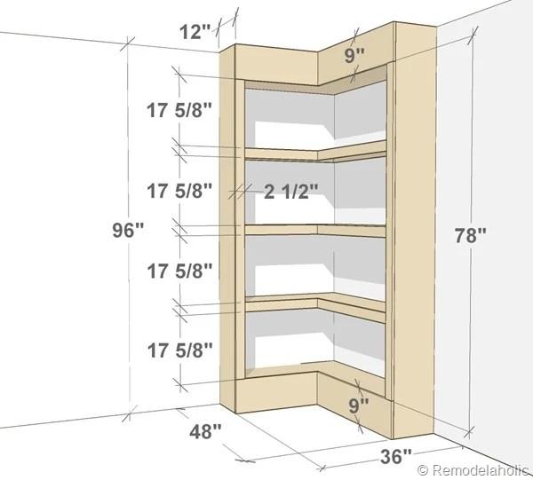 Built In Corner Bookshelves Diy