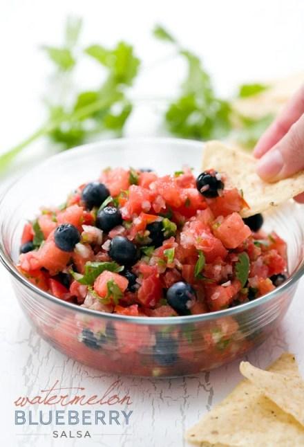 4th of July blueberry watermelon salsa recipe