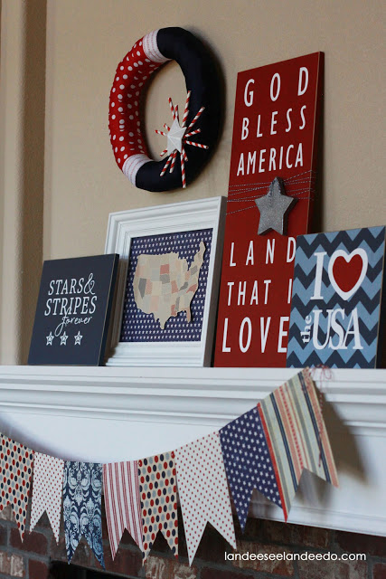 4th of July patriotic mantel ideas