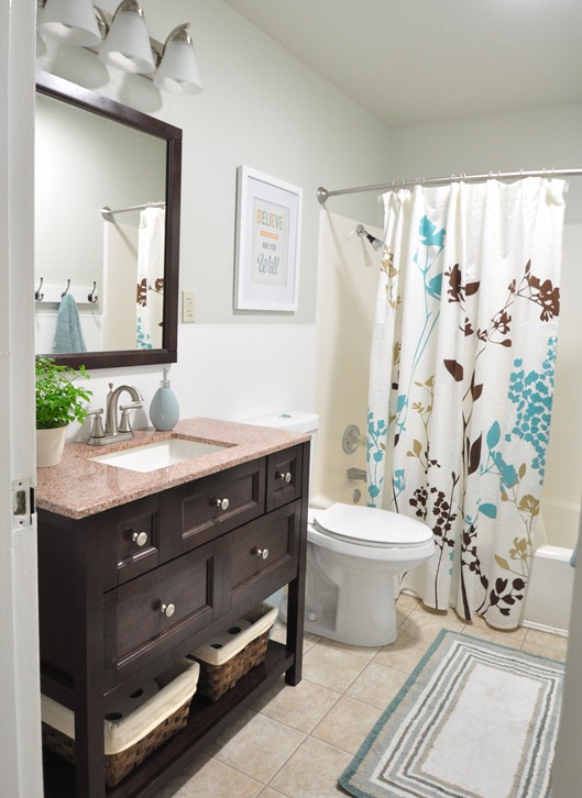 Remodelaholic An 80 39 S Bath Remodeled
