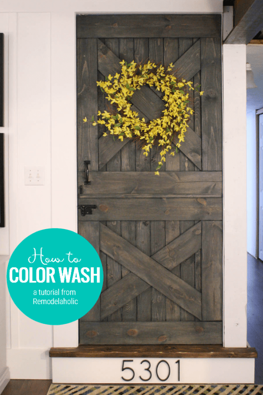 Coloring Washing Is A Unique Painting Technique That Allows The Wood Grain To Show Through Your Paint Color. You'll Love It! A Tutorial From Remodelaholic