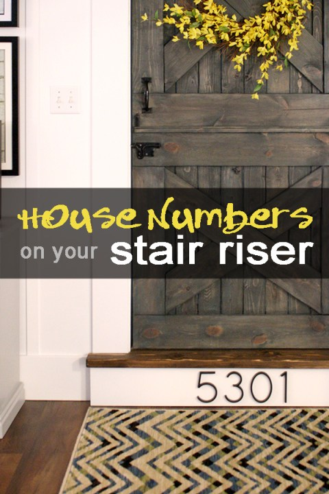 House numbers on your stair riser