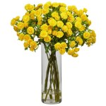Nearly-Natural-Japanese-Silk-Flower-Arrangement-in-Yellow