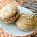 Pumpkin Spice Whoopie Pies with Nutella frosting