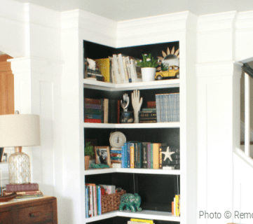 Built In Corner Bookshelf Tutorial And Building Plans From Remodelaholic