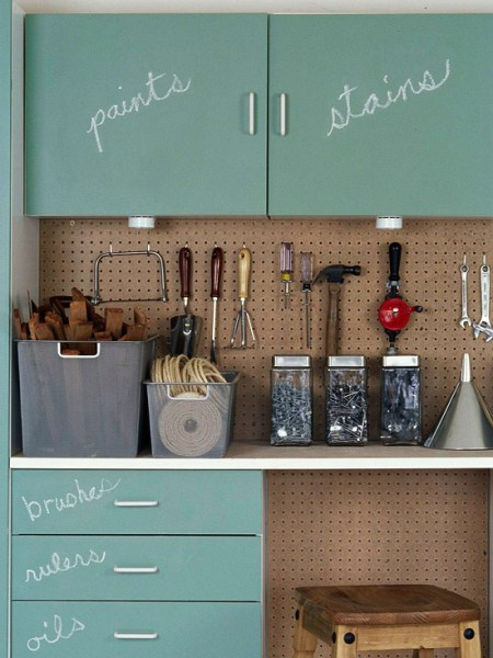 chalk paint garage cabinets BHG