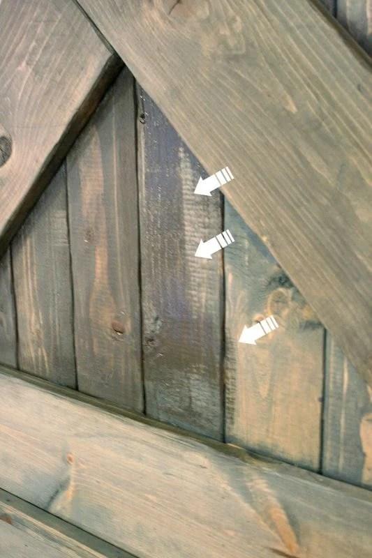 Color Washing Paint Technique Wood Grain Still Shows Barn Door