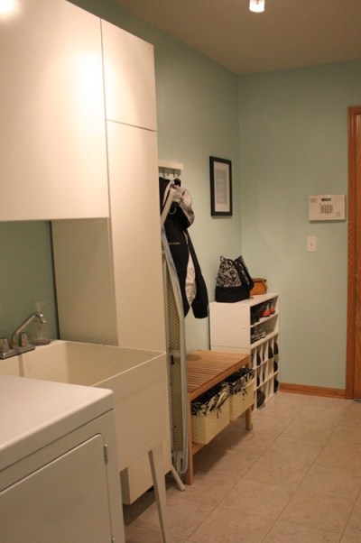 laundry room storage cabinets redo