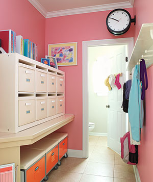 organized mudroom