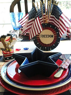 patriotic tablescape for the 4th of July