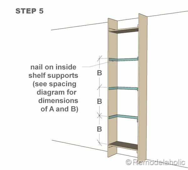 step 5 bult-in bookshelves