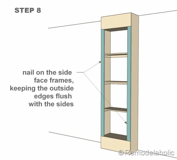 step 8 bult-in bookshelves