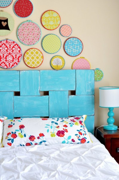 diy woven headboard, Little Bit Funky