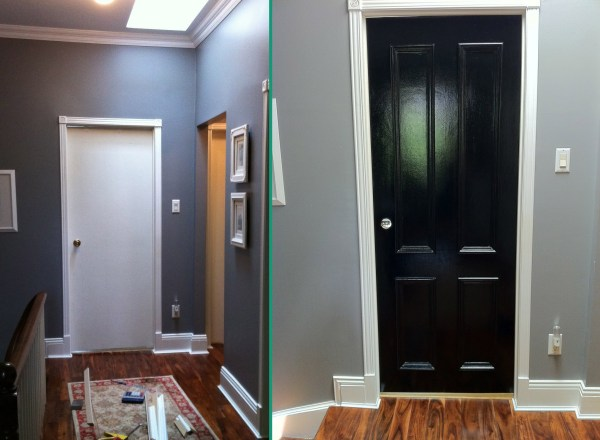 4 panel door before and after updated interior doors
