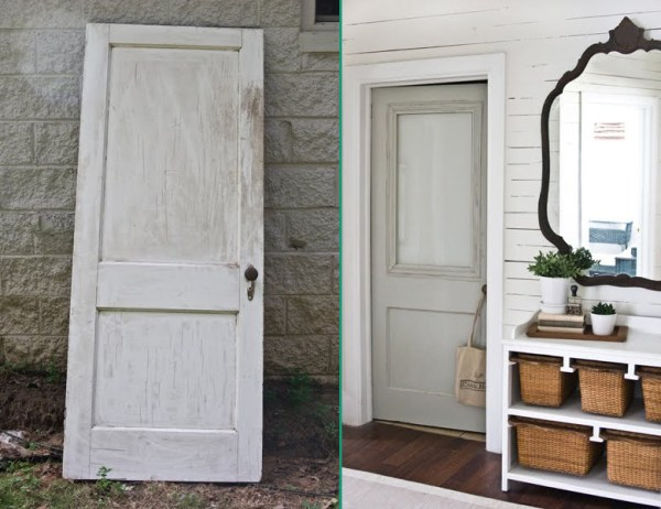 Adding a window to a solid door