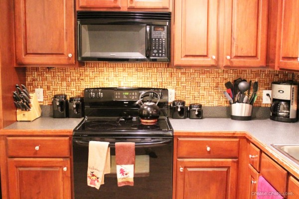 Create Craft Love wine cork backsplash