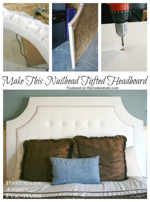 Build a Tufted Headboard with Nail Head Trim | Remodelaholic