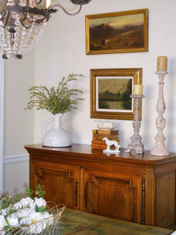 Remodelaholic how to decorate a buffet - How to decorate a dining room ...