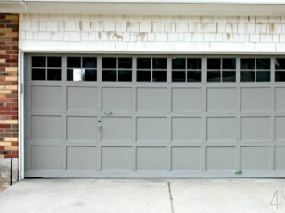 add trim to plain garage door, 4 Men 1 Lady