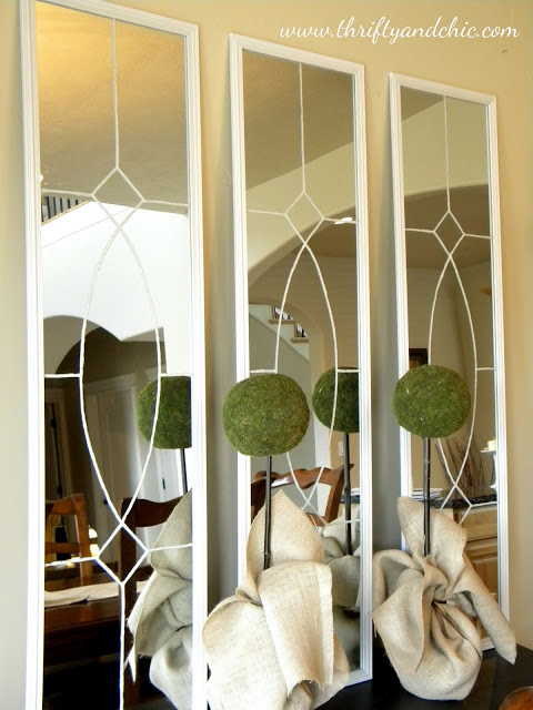 ballard designs knock off garden mirror