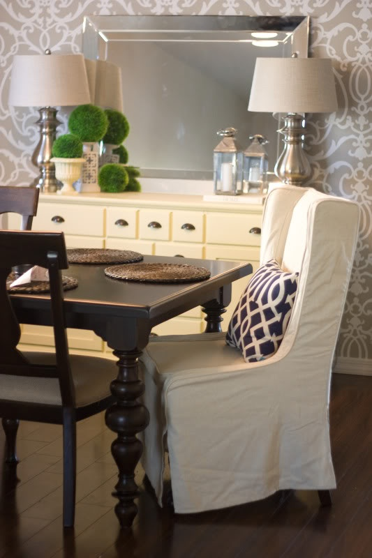 Decorating A Buffet Table In Dining Room