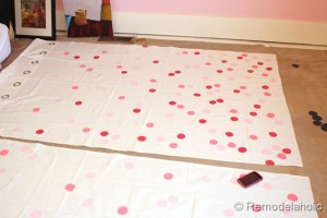 confetti drapes tutorial polka dot drapes girls bedroom window coverings window panels (16)