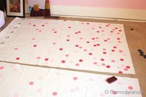 confetti drapes tutorial polka dot drapes girls bedroom window coverings window panels (16)