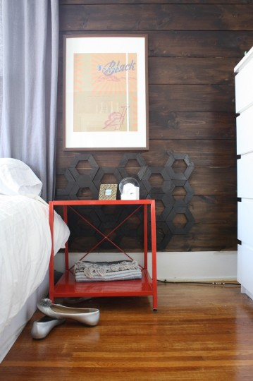 diy hexagon headboard, Merry Pad