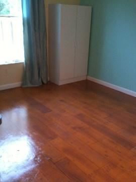 faux wood painted concrete floor, Lins Artwork