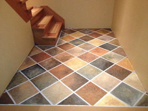 hand painted faux slate concrete floor, Simply Stone Haven