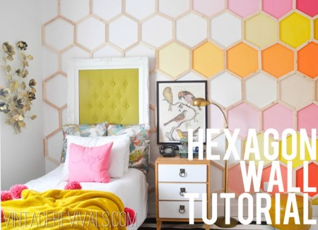 ombre hexagon wall tutorial, Vintage Revivals