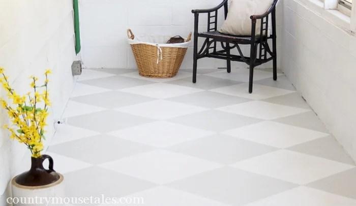 Amazing How To Paint A Concrete Floor | Remodelaholic.com