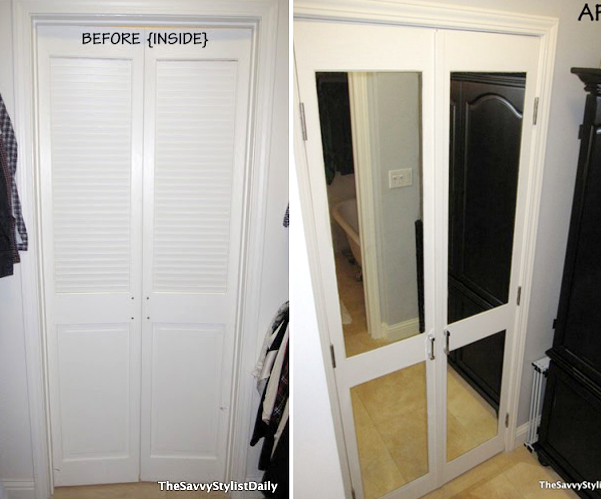 Perfect Mirrored Closet Door Transformation