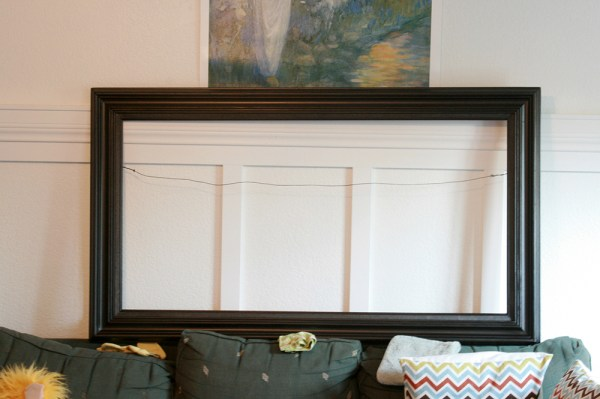 spray painted black picture frame