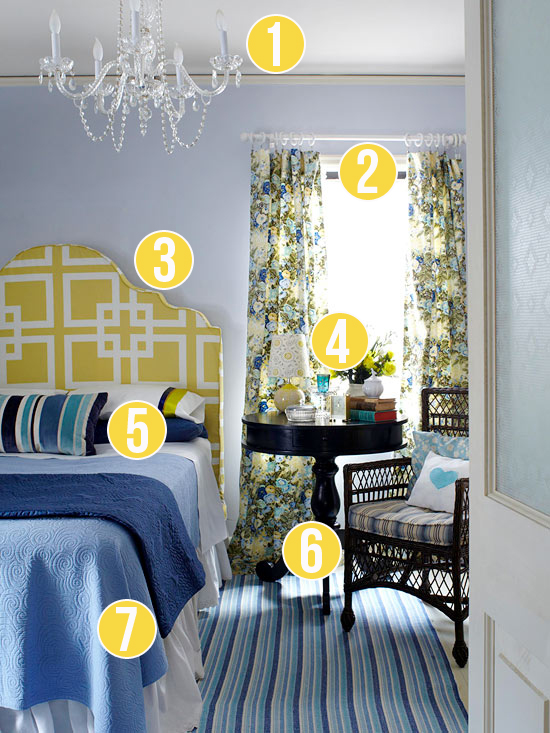 Get This Look - Mixed Patterns in the Master Bedroom - 7 tips from Remodelaholic