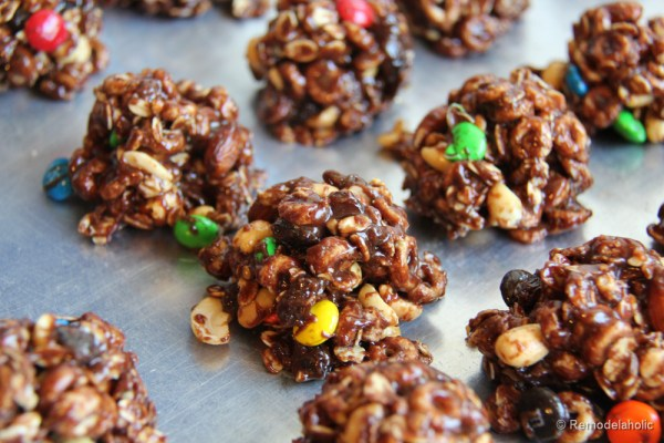 No Bake Trail Mix Cookies Recipe-3