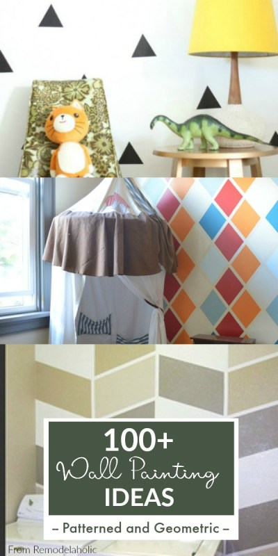 Patterned And Geometric Wall Paint Ideas From Remodelaholic