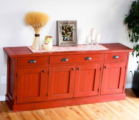 The Friendly Home, rustic sideboard