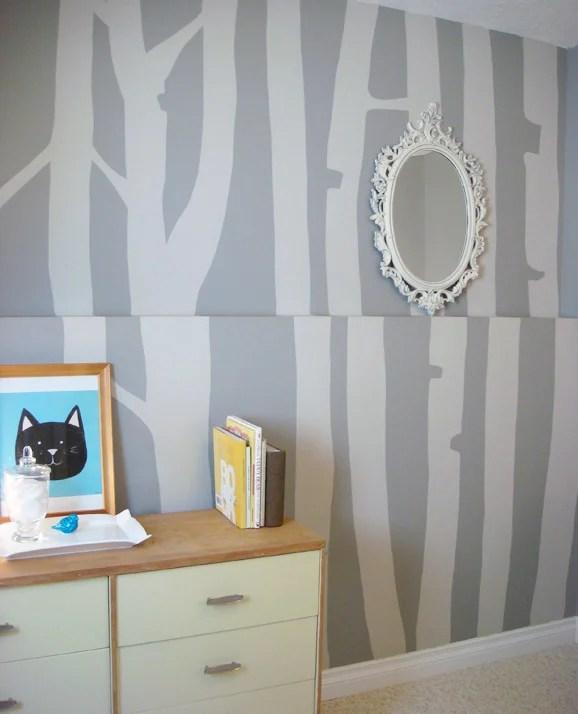 birch wallpaper look