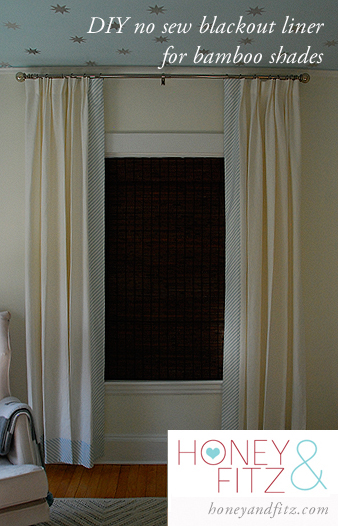 blackout liner for bamboo window shades, Honey and Fitz