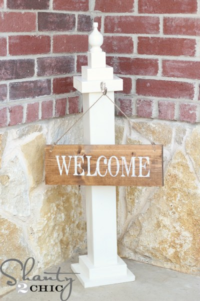 build a welcome sign post, Shanty2Chic