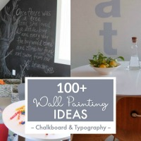 Chalkboard And Typography Wall Paint Ideas From Remodelaholic Thumbnail