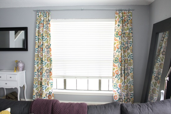 cheap homemade curtain from electrical conduit, Love and Renovations on Remodelaholic