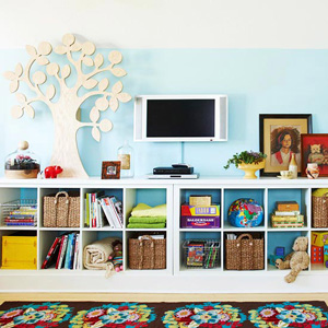 colorful cubbies for the family thumb