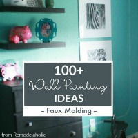 Faux Molding Wall Paint Ideas From Remodelaholic Thumbnail